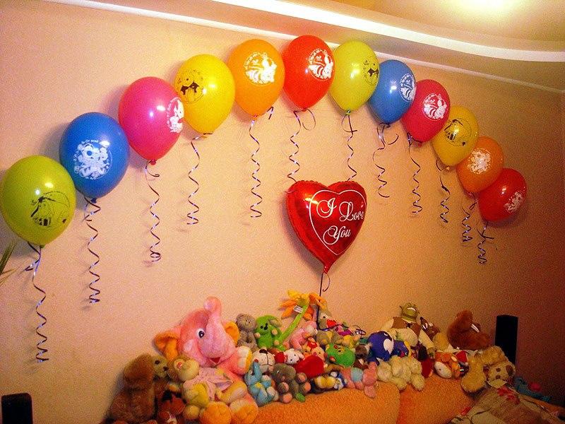Как можно украсить комнату к дню рождения своими руками